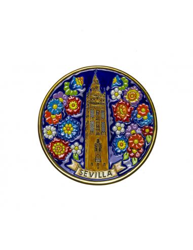 Plato Giralda de Sevilla cerámica...