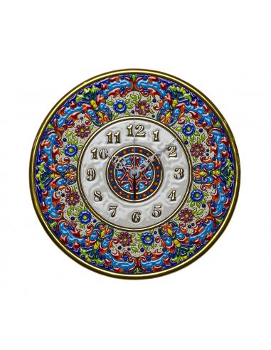 Plato Reloj cerámica decorativa...
