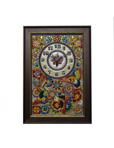 Reloj Cocina con marco nogal cerámica...