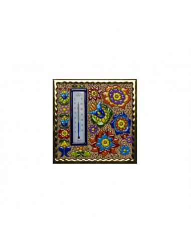 Termómetro azulejo cerámica española...