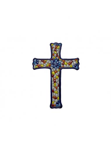 Cruz cerámica decorativa andaluza...