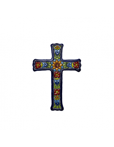 Cruz cerámica decorativa andaluza....