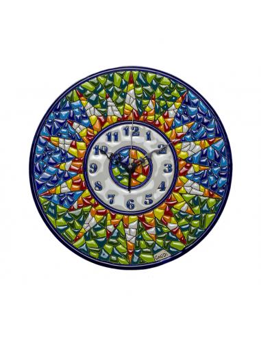 Plato Reloj Gaudí Barcelona cerámica...