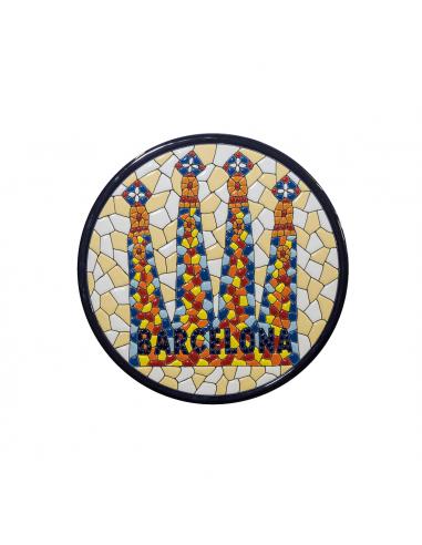 Souvenir Barcelona Plato Sagrada...