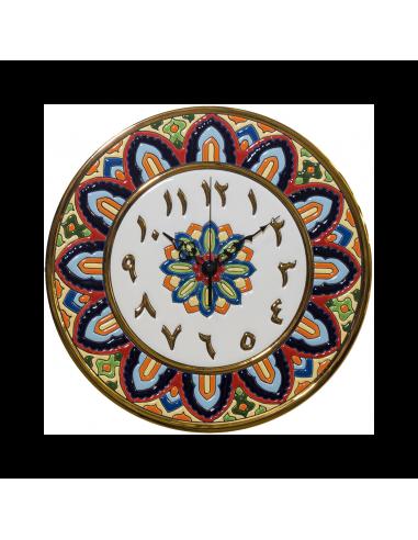 Plato Reloj Números Arábigos cerámica...