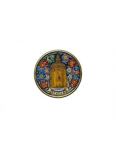 Plato Torre del Oro Sevilla cerámica...