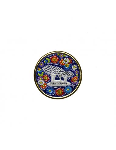 Plato Setas Sevilla cerámica española...